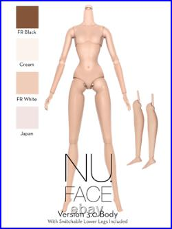 12.5 Nu Face 3.0 Cream Skin Tone Articulated Body + Switchable Lower LegsNew