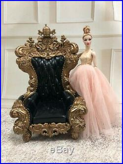 1/6 Furniture Black Chair fits for Integrity Toys Fashion Royalty Poppy Dolls